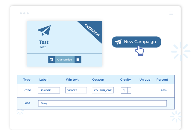 with shopify spin to win app, you can customize the spin wheel easily